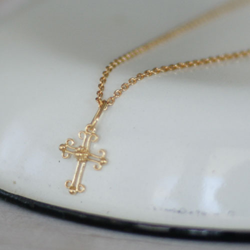 ネックレス, Necklace, クロス, charm, filigree