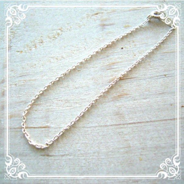 画像1: お客様のご要望の長さに調整します!シンプルで華奢な極細あずきチェーンブレスレット/silver925銀製
