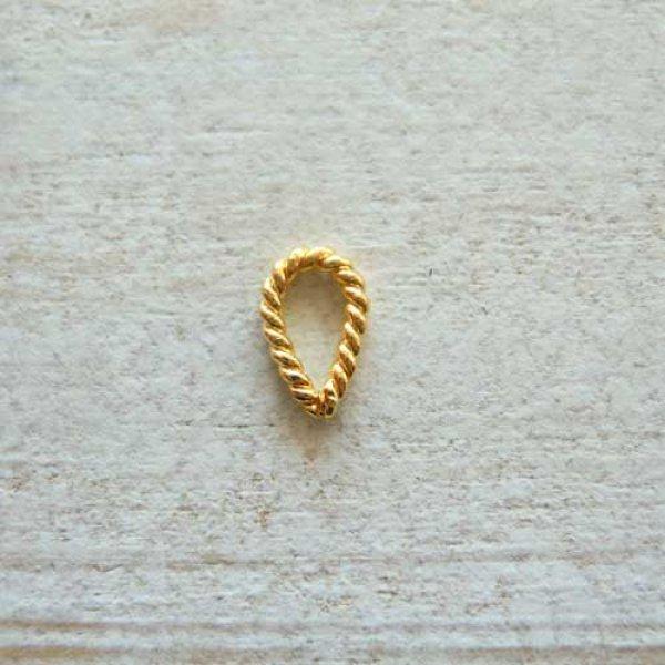 画像1: ツイストワイヤーの華奢なバチカン2個セット(Sサイズ)【手作り】【ニッケルフリー】【24K/K24/18K/K18ピンクゴールド】