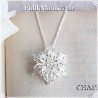 【新作】ジャスミンのお花のネックレス silver925