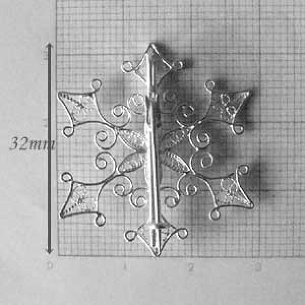 画像4: 雪の結晶のブローチ【フィリグリー・銀線細工】(ヴェルメイユ・24Kピュアゴールド)
