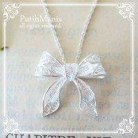 リボンのネックレス|銀線細工・フィリグリーの透かしが美しいsilver925ネックレス
