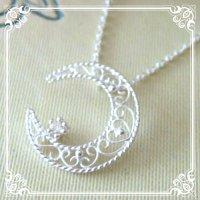 月と星のネックレス(silver925)