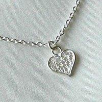 プチハートのネックレス|銀線細工の繊細で小さなハートチャームのペンダントトップ【silver925】