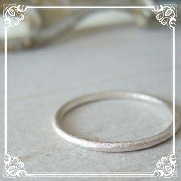 画像1: 極細マット仕上げリング 重ね付やピンキーリングにと用途の広いシンプルリング【silver925】